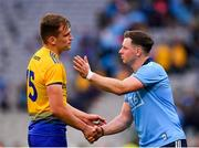 20 July 2019; Enda Smith of Roscommon and Philip McMahon of Dublin shake hands following the GAA Football All-Ireland Senior Championship Quarter-Final Group 2 Phase 2 match between Dublin and Roscommon at Croke Park in Dublin. Photo by Seb Daly/Sportsfile