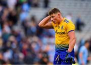 20 July 2019; Conor Cox of Roscommon following his side's defeat during the GAA Football All-Ireland Senior Championship Quarter-Final Group 2 Phase 2 match between Dublin and Roscommon at Croke Park in Dublin. Photo by Seb Daly/Sportsfile
