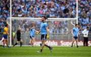20 July 2019; Michael Darragh MacAuley of Dublin leaves the pitch after receiving a black card during the GAA Football All-Ireland Senior Championship Quarter-Final Group 2 Phase 2 match between Dublin and Roscommon at Croke Park in Dublin. Photo by David Fitzgerald/Sportsfile