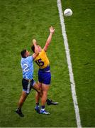 20 July 2019; Enda Smith of Roscommon in action against James McCarthy of Dublin during the GAA Football All-Ireland Senior Championship Quarter-Final Group 2 Phase 2 match between Dublin and Roscommon at Croke Park in Dublin. Photo by Seb Daly/Sportsfile