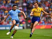 20 July 2019; Niall Scully of Dublin in action against Enda Smith of Roscommon during the GAA Football All-Ireland Senior Championship Quarter-Final Group 2 Phase 2 match between Dublin and Roscommon at Croke Park in Dublin. Photo by Ray McManus/Sportsfile
