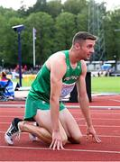 20 July 2019; Aaron Sexton of Ireland after competing in the Men's 200mduring Day Three of the European Athletics U20 Championships in Borås, Sweden. Photo by Giancarlo Colombo/Sportsfile