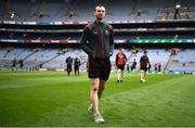 21 July 2019; Keith Higgins of Mayo prior to the GAA Football All-Ireland Senior Championship Quarter-Final Group 1 Phase 2 match between Mayo and Meath at Croke Park in Dublin. Photo by David Fitzgerald/Sportsfile
