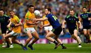21 July 2019; Gavin McCoy of Meath in action against Darren Coen of Mayo during the GAA Football All-Ireland Senior Championship Quarter-Final Group 1 Phase 2 match between Mayo and Meath at Croke Park in Dublin. Photo by Ray McManus/Sportsfile