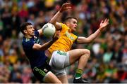 21 July 2019; Jason Doherty of Mayo in action against Conor McGill of Meath during the GAA Football All-Ireland Senior Championship Quarter-Final Group 1 Phase 2 match between Mayo and Meath at Croke Park in Dublin. Photo by Ray McManus/Sportsfile