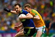 21 July 2019; Darren Coen of Mayo in action against Shane Gallagher of Meath during the GAA Football All-Ireland Senior Championship Quarter-Final Group 1 Phase 2 match between Mayo and Meath at Croke Park in Dublin. Photo by Ray McManus/Sportsfile