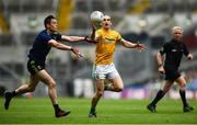 21 July 2019; Cillian O'Sullivan of Meath in action against Stephen Coen of Mayo during the GAA Football All-Ireland Senior Championship Quarter-Final Group 1 Phase 2 match between Mayo and Meath at Croke Park in Dublin. Photo by David Fitzgerald/Sportsfile