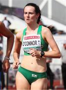 21 July 2019; Niamh O'Connor of Ireland competing in the Women's 1000m Walk Race during Day Four of the European Athletics U20 Championships in Borås, Sweden. Photo by Giancarlo Colombo/Sportsfile