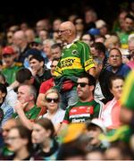 21 July 2019; A Kerry fan looks for his seat prior to the GAA Football All-Ireland Senior Championship Quarter-Final Group 1 Phase 2 match between Kerry and Donegal at Croke Park in Dublin. Photo by David Fitzgerald/Sportsfile