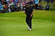21 July 2019; Shane Lowry of Ireland celebrates after making a birdie putt on the 4th green during Day Four of the 148th Open Championship at Royal Portrush in Portrush, Co Antrim. Photo by Brendan Moran/Sportsfile