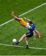 21 July 2019; Darren Coen of Mayo in action against Donal Keogan of Meath during the GAA Football All-Ireland Senior Championship Quarter-Final Group 1 Phase 2 match between Mayo and Meath at Croke Park in Dublin. Photo by Daire Brennan/Sportsfile