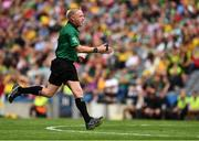 21 July 2019; Referee Ciarán Branagan  during the GAA Football All-Ireland Senior Championship Quarter-Final Group 1 Phase 2 match between Mayo and Meath at Croke Park in Dublin. Photo by Ray McManus/Sportsfile