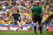 21 July 2019; Cillian O'Connor of Mayo takes a penalty which is subsequently saved during the GAA Football All-Ireland Senior Championship Quarter-Final Group 1 Phase 2 match between Mayo and Meath at Croke Park in Dublin. Photo by David Fitzgerald/Sportsfile