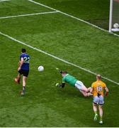 21 July 2019; Kevin McLoughlin of Mayo scores his side's first goal during the GAA Football All-Ireland Senior Championship Quarter-Final Group 1 Phase 2 match between Mayo and Meath at Croke Park in Dublin. Photo by Daire Brennan/Sportsfile