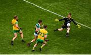 21 July 2019; Shaun Patton of Donegal saves a shot from David Clifford of Kerry during the GAA Football All-Ireland Senior Championship Quarter-Final Group 1 Phase 2 match between Kerry and Donegal at Croke Park in Dublin. Photo by Daire Brennan/Sportsfile