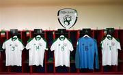 21 July 2019; The dressing room of the Republic of Ireland prior to the 2019 UEFA U19 European Championship Finals group B match between Republic of Ireland and Czech Republic at the FFA Academy Stadium in Yerevan, Armenia. Photo by Stephen McCarthy/Sportsfile