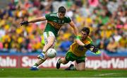 21 July 2019; Paul Geaney of Kerry in action against Ryan McHugh of Donegal during the GAA Football All-Ireland Senior Championship Quarter-Final Group 1 Phase 2 match between Kerry and Donegal at Croke Park in Dublin. Photo by David Fitzgerald/Sportsfile