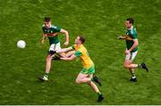 21 July 2019; Ciarán Thompson of Donegal in action against Adrian Spillane, left, and Shane Enright of Kerry during the GAA Football All-Ireland Senior Championship Quarter-Final Group 1 Phase 2 match between Kerry and Donegal at Croke Park in Dublin. Photo by Daire Brennan/Sportsfile
