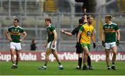 21 July 2019; Gavin White of Kerry receives a black card during the GAA Football All-Ireland Senior Championship Quarter-Final Group 1 Phase 2 match between Kerry and Donegal at Croke Park in Dublin. Photo by David Fitzgerald/Sportsfile