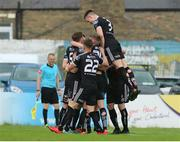 21 July 2019; Bohemians players celebrate Conor Levingston's goal during the SSE Airtricity League Premier Division match between Bohemians and St Patrick's Athletic at Dalymount Park in Dublin. Photo by Michael P Ryan/Sportsfile