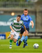 21 July 2019; Jack Byrne of Shamrock Rovers in action against Jack Keaney of UCD during the SSE Airtricity League Premier Division match between Shamrock Rovers and UCD at Tallaght Stadium in Dublin. Photo by Seb Daly/Sportsfile