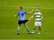 21 July 2019; Jack Keaney of UCD and Jack Byrne of Shamrock Rovers during the SSE Airtricity League Premier Division match between Shamrock Rovers and UCD at Tallaght Stadium in Dublin. Photo by Seb Daly/Sportsfile