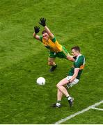 21 July 2019; Tom O'Sullivan of Kerry in action against Stephen McMenamin of Donegal during the GAA Football All-Ireland Senior Championship Quarter-Final Group 1 Phase 2 match between Kerry and Donegal at Croke Park in Dublin. Photo by Daire Brennan/Sportsfile