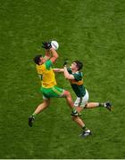 21 July 2019; Paul Brennan of Donegal in action against Seán O'Shea of Kerry during the GAA Football All-Ireland Senior Championship Quarter-Final Group 1 Phase 2 match between Kerry and Donegal at Croke Park in Dublin. Photo by Daire Brennan/Sportsfile