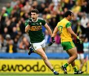 21 July 2019; Paul Geaney of Kerry celebrates his 44th minute goal during the GAA Football All-Ireland Senior Championship Quarter-Final Group 1 Phase 2 match between Kerry and Donegal at Croke Park in Dublin. Photo by Ray McManus/Sportsfile