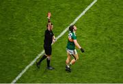 21 July 2019; Referee Paddy Neilan shows Tomás Ó Se of Kerry a red card during the GAA Football All-Ireland Senior Championship Quarter-Final Group 1 Phase 2 match between Kerry and Donegal at Croke Park in Dublin. Photo by Daire Brennan/Sportsfile