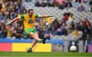21 July 2019; Michael Murphy of Donegal shoots to score his side's first goal from a penalty during the GAA Football All-Ireland Senior Championship Quarter-Final Group 1 Phase 2 match between Kerry and Donegal at Croke Park in Dublin. Photo by David Fitzgerald/Sportsfile