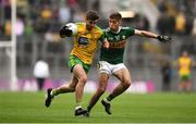 21 July 2019; Daire Ó Baoill of Donegal in action against Adrian Spillane of Kerry during the GAA Football All-Ireland Senior Championship Quarter-Final Group 1 Phase 2 match between Kerry and Donegal at Croke Park in Dublin. Photo by David Fitzgerald/Sportsfile