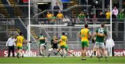 21 July 2019; Paul Geaney of Kerry shoots to score his side's first goal during the GAA Football All-Ireland Senior Championship Quarter-Final Group 1 Phase 2 match between Kerry and Donegal at Croke Park in Dublin. Photo by David Fitzgerald/Sportsfile
