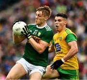 21 July 2019; Killian Spillane of Kerry in action against Odhrán McFadden Ferry of Donegal  during the GAA Football All-Ireland Senior Championship Quarter-Final Group 1 Phase 2 match between Kerry and Donegal at Croke Park in Dublin. Photo by Ray McManus/Sportsfile