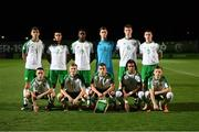 21 July 2019; The Republic of Ireland team prior to the 2019 UEFA U19 European Championship Finals group B match between Republic of Ireland and Czech Republic at the FFA Academy Stadium in Yerevan, Armenia. Photo by Stephen McCarthy/Sportsfile