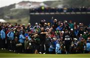 21 July 2019; Shane Lowry of Ireland makes his way to the 18th green during Day Four of the 148th Open Championship at Royal Portrush in Portrush, Co Antrim. Photo by Ramsey Cardy/Sportsfile