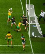 21 July 2019; Eoin McHugh of Donegal scores a goal which is subsequently disallowed during the GAA Football All-Ireland Senior Championship Quarter-Final Group 1 Phase 2 match between Kerry and Donegal at Croke Park in Dublin. Photo by David Fitzgerald/Sportsfile