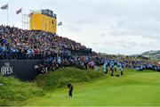 21 July 2019; Shane Lowry of Ireland putts on the 18th green on the to winning The Open Championship on Day Four of the 148th Open Championship at Royal Portrush in Portrush, Co Antrim. Photo by Brendan Moran/Sportsfile