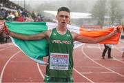 21 July 2019; Darragh McElhinney of Ireland after finishing third for Bronze in the Men's 5000m final during Day Four of the European Athletics U20 Championships in Borås, Sweden. Photo by Giancarlo Colombo/Sportsfile
