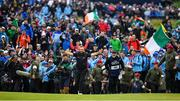 21 July 2019; Shane Lowry of Ireland celebrates as he walks onto the 18th green on his way to winning The Open Championship on Day Four of the 148th Open Championship at Royal Portrush in Portrush, Co Antrim. Photo by Brendan Moran/Sportsfile