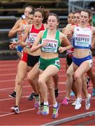 21 July 2019; Sarah Healy of Ireland competing in the Women's 1500m final during Day Four of the European Athletics U20 Championships in Borås, Sweden. Photo by Giancarlo Colombo/Sportsfile