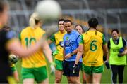 20 July 2019; Donegal manager Maxi Curran before the TG4 All-Ireland Ladies Football Senior Championship Group 4 Round 2 match between Donegal and Tyrone at TEG Cusack Park in Mullingar, Co. Westmeath. Photo by Piaras Ó Mídheach/Sportsfile