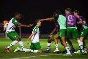 21 July 2019; Barry Coffey of Republic of Ireland celebrates with team-mates after scoring his side's second goal during the 2019 UEFA U19 European Championship Finals group B match between Republic of Ireland and Czech Republic at the FFA Academy Stadium in Yerevan, Armenia. Photo by Stephen McCarthy/Sportsfile
