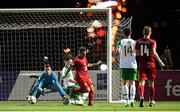 21 July 2019; Vasil Kušej of Czech Republic scores his side's goal during the 2019 UEFA U19 European Championship Finals group B match between Republic of Ireland and Czech Republic at the FFA Academy Stadium in Yerevan, Armenia. Photo by Stephen McCarthy/Sportsfile