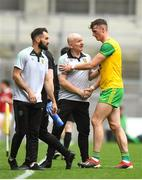 21 July 2019; Jason McGee of Donegal with Donegal manager Declan Bonner during the GAA Football All-Ireland Senior Championship Quarter-Final Group 1 Phase 2 match between Kerry and Donegal at Croke Park in Dublin. Photo by David Fitzgerald/Sportsfile
