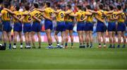 20 July 2019; The Roscommon team prior to the GAA Football All-Ireland Senior Championship Quarter-Final Group 2 Phase 2 match between Dublin and Roscommon at Croke Park in Dublin. Photo by David Fitzgerald/Sportsfile