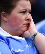 20 July 2019; A Dublin supporter during the GAA Football All-Ireland Senior Championship Quarter-Final Group 2 Phase 2 match between Dublin and Roscommon at Croke Park in Dublin. Photo by David Fitzgerald/Sportsfile