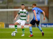 21 July 2019; Jack Byrne of Shamrock Rovers in action against Paul Doyle of UCD during the SSE Airtricity League Premier Division match between Shamrock Rovers and UCD at Tallaght Stadium in Dublin. Photo by Seb Daly/Sportsfile