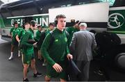 21 July 2019; George McMahon of Republic of Ireland arrives prior to the 2019 UEFA U19 European Championship Finals group B match between Republic of Ireland and Czech Republic at the FFA Academy Stadium in Yerevan, Armenia. Photo by Stephen McCarthy/Sportsfile