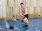 22 July 2019; Brian Maher on the shoulders of Mark McGuinness during a Republic of Ireland pool recovery session at the 2019 UEFA European U19 Championships in Yerevan, Armenia. Photo by Stephen McCarthy/Sportsfile